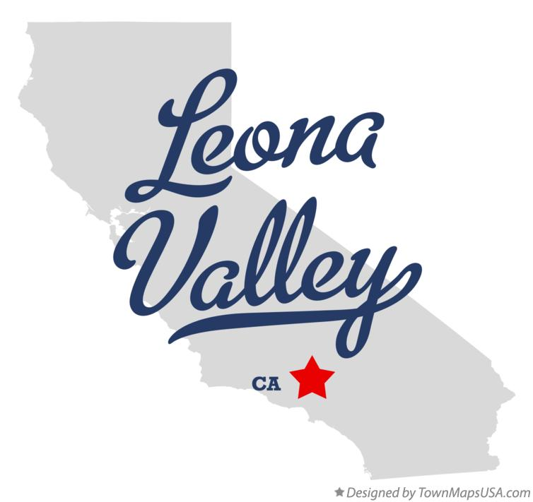 Map of Leona Valley California CA