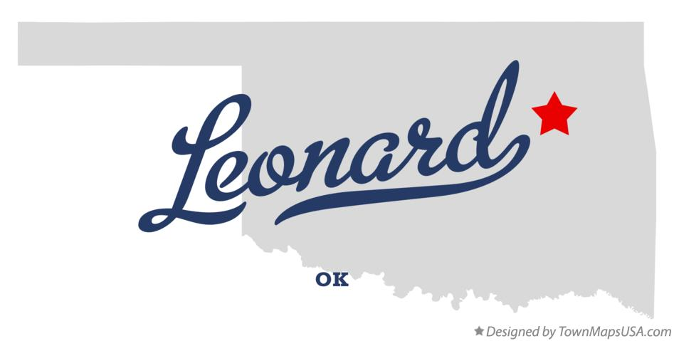 Map of Leonard Oklahoma OK