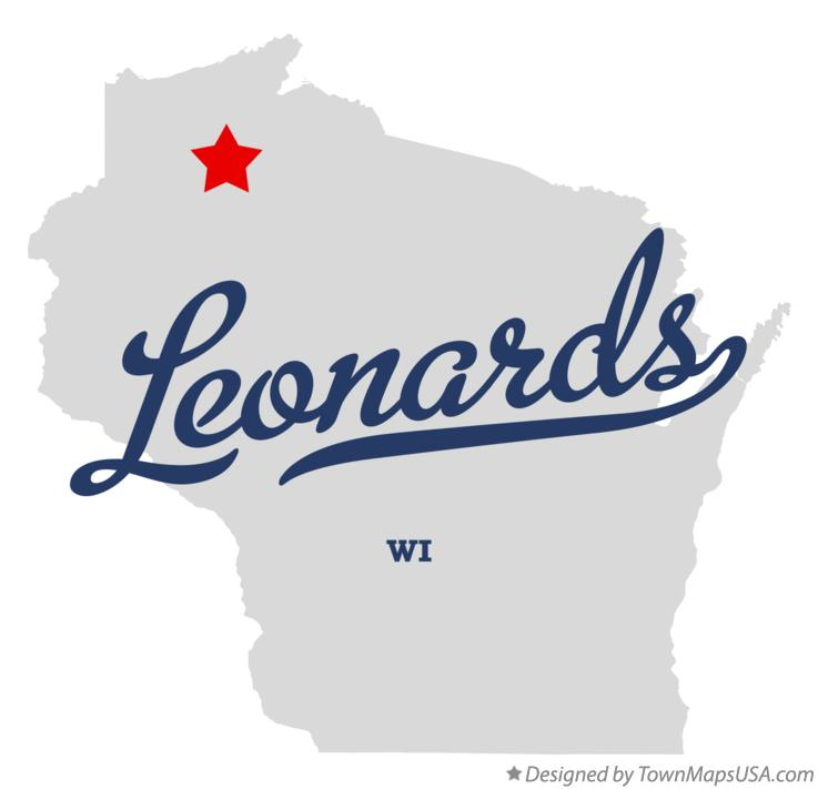 Map of Leonards Wisconsin WI
