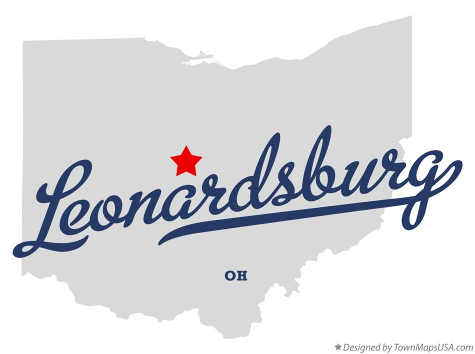 Map of Leonardsburg Ohio OH