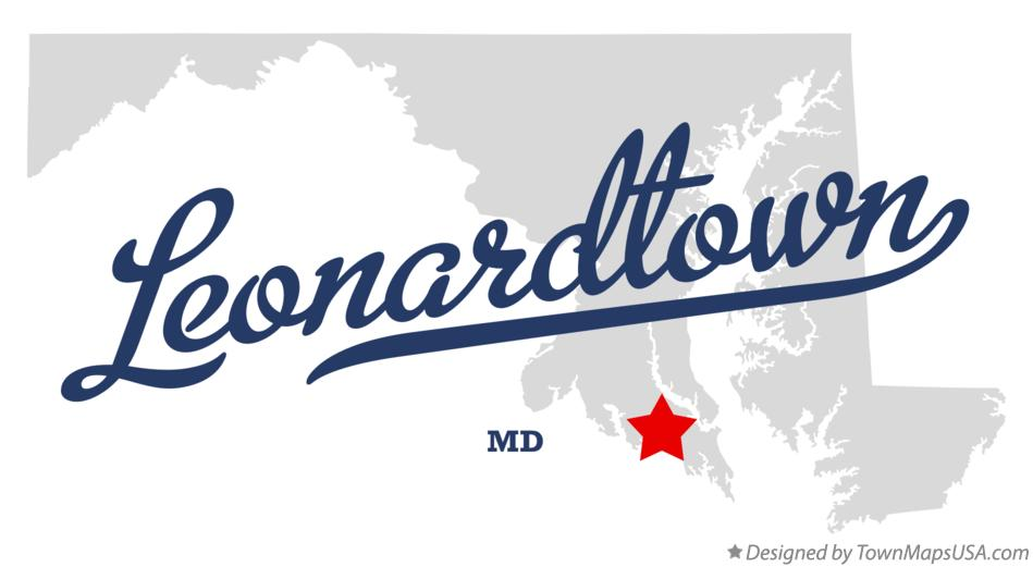 Map of Leonardtown Maryland MD