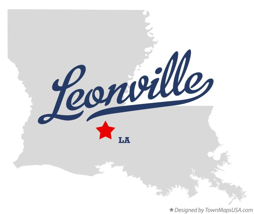 Map of Leonville Louisiana LA