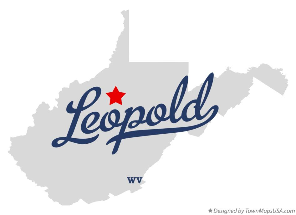 Map of Leopold West Virginia WV
