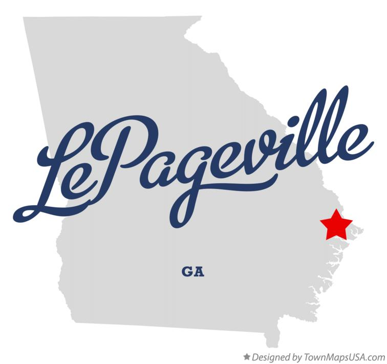 Map of LePageville Georgia GA