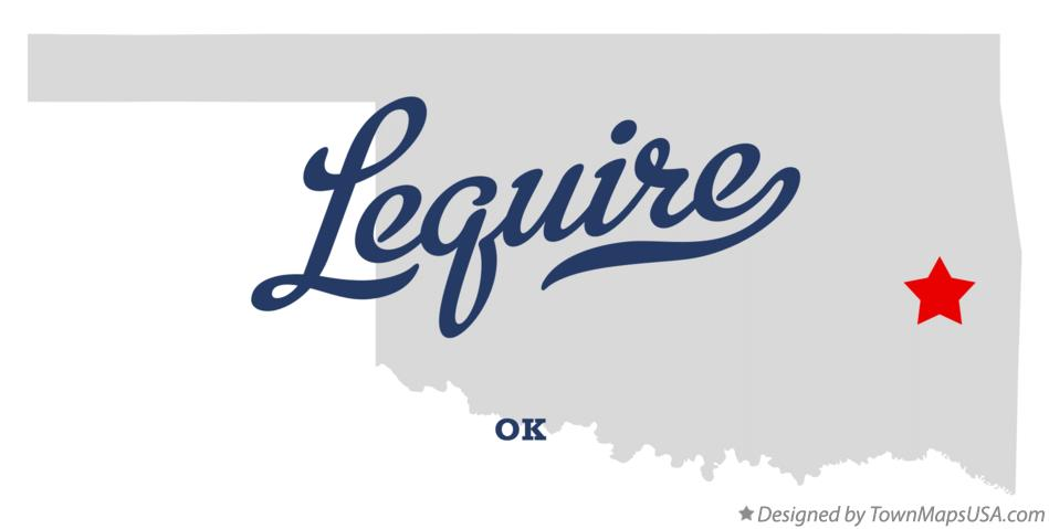 Map of Lequire Oklahoma OK
