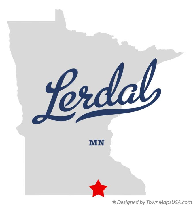 Map of Lerdal Minnesota MN