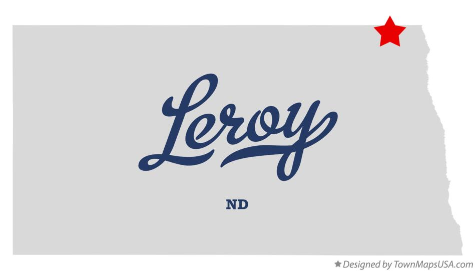 Map of Leroy North Dakota ND