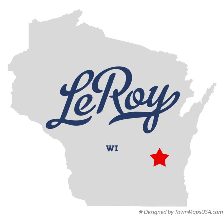 Map of LeRoy Wisconsin WI
