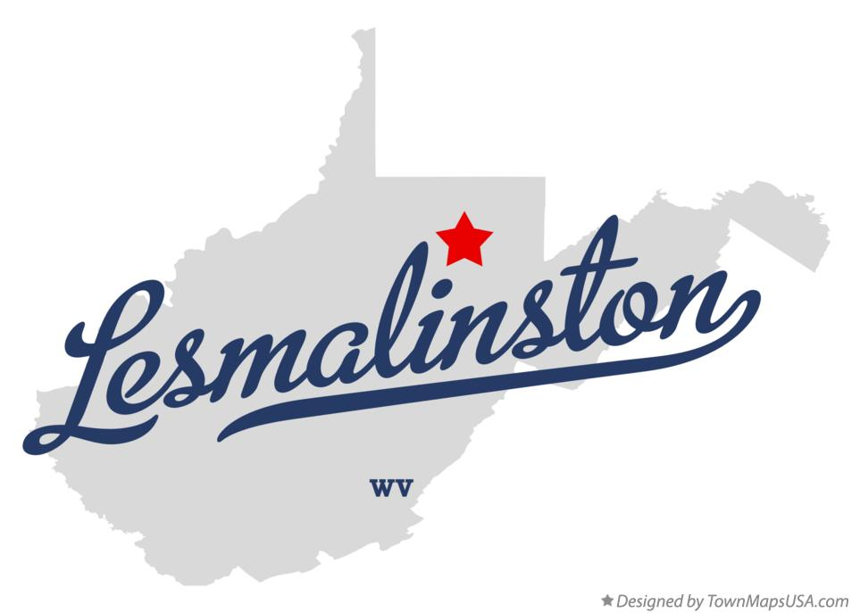 Map of Lesmalinston West Virginia WV