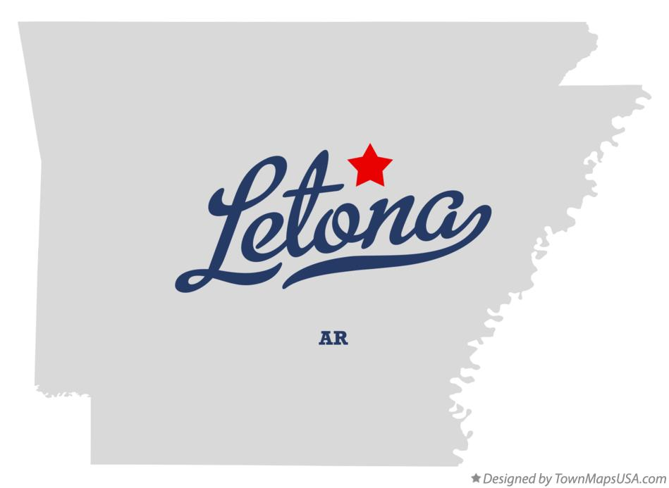 Map of Letona Arkansas AR