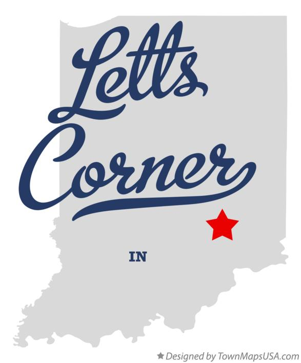 Map of Letts Corner Indiana IN