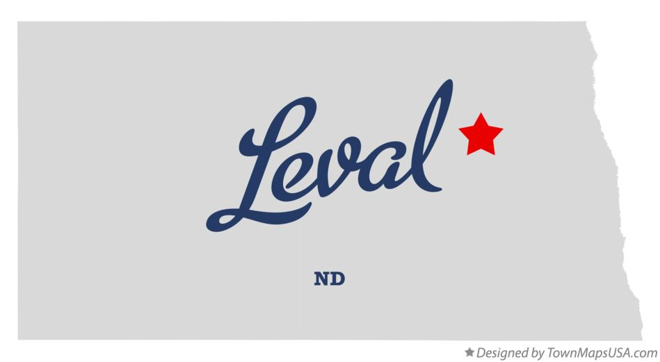 Map of Leval North Dakota ND