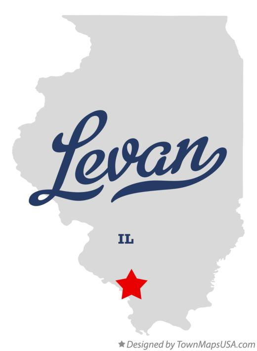 Map of Levan Illinois IL