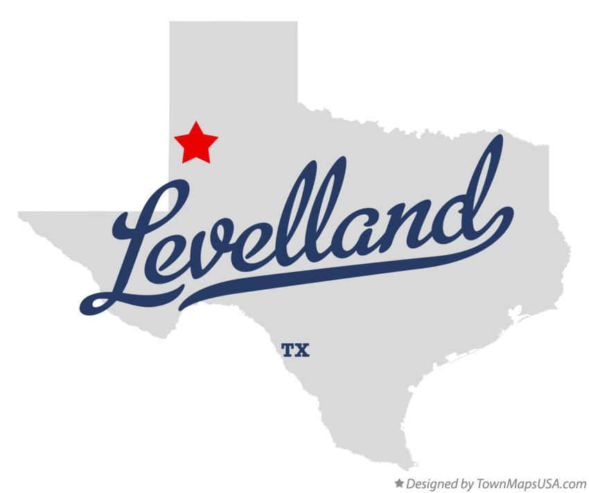 Map of Levelland Texas TX