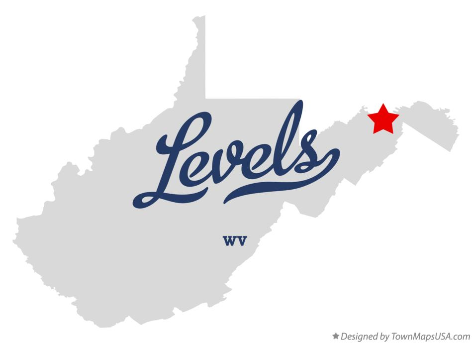 Map of Levels West Virginia WV