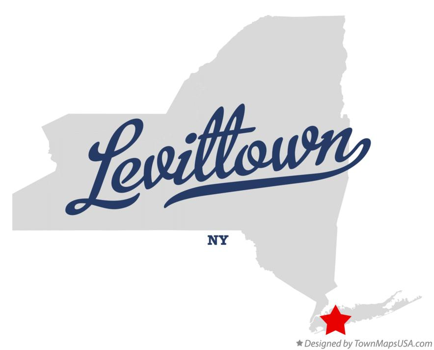Map of Levittown New York NY