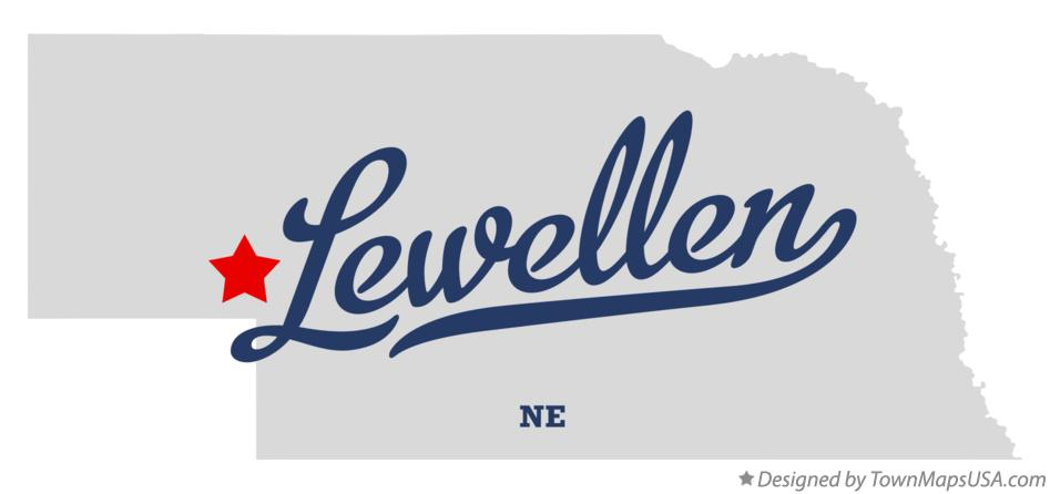 Map of Lewellen Nebraska NE
