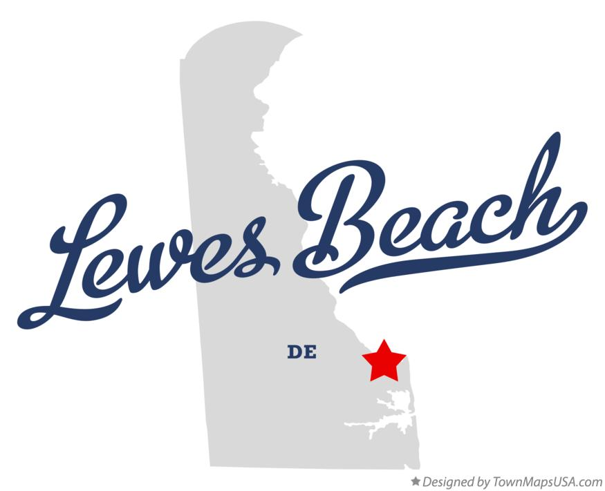 Map of Lewes Beach Delaware DE