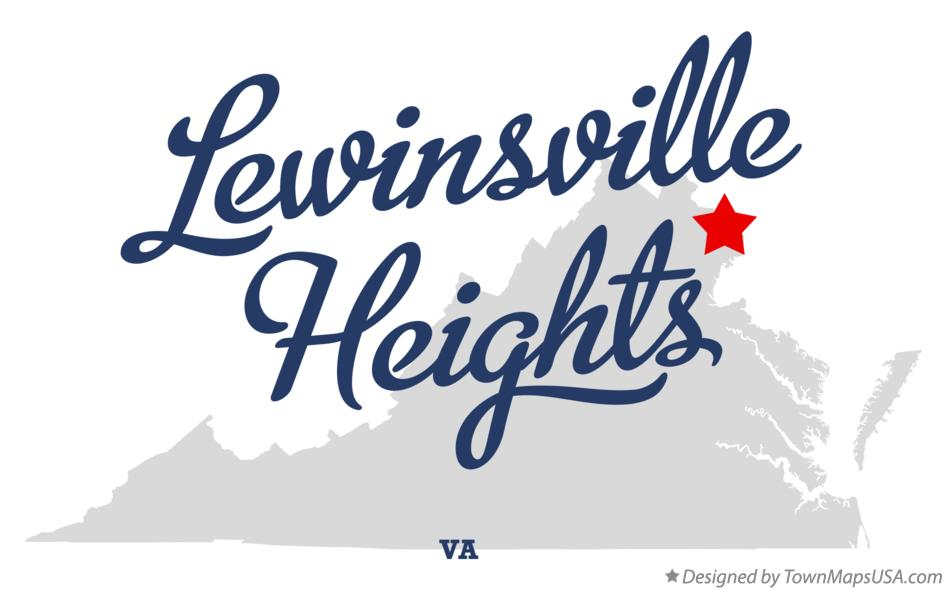 Map of Lewinsville Heights Virginia VA