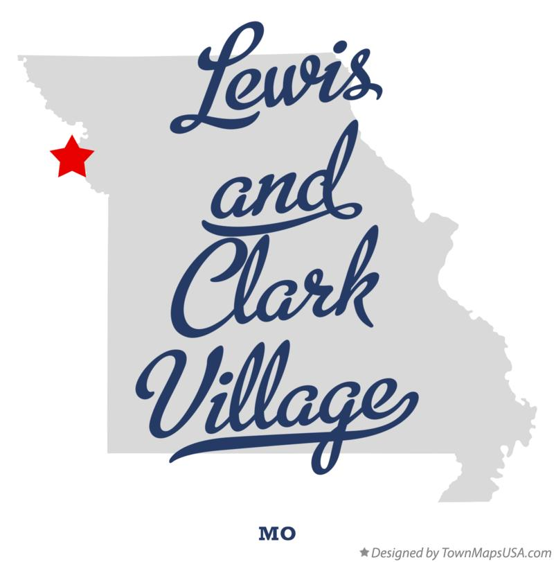 Map of Lewis and Clark Village Missouri MO