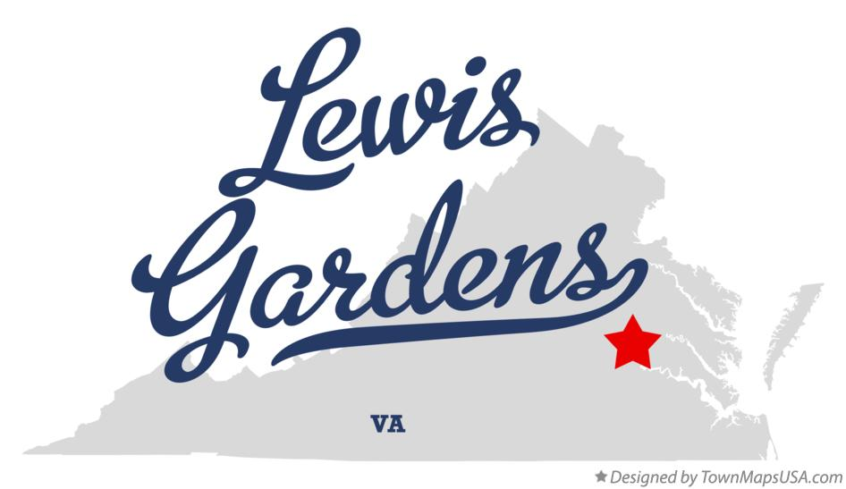 Map of Lewis Gardens Virginia VA