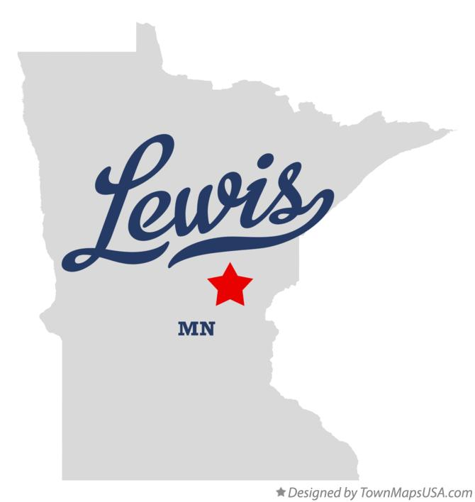 Map of Lewis Minnesota MN