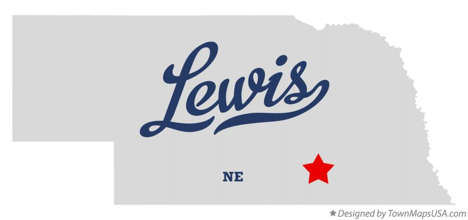 Map of Lewis Nebraska NE