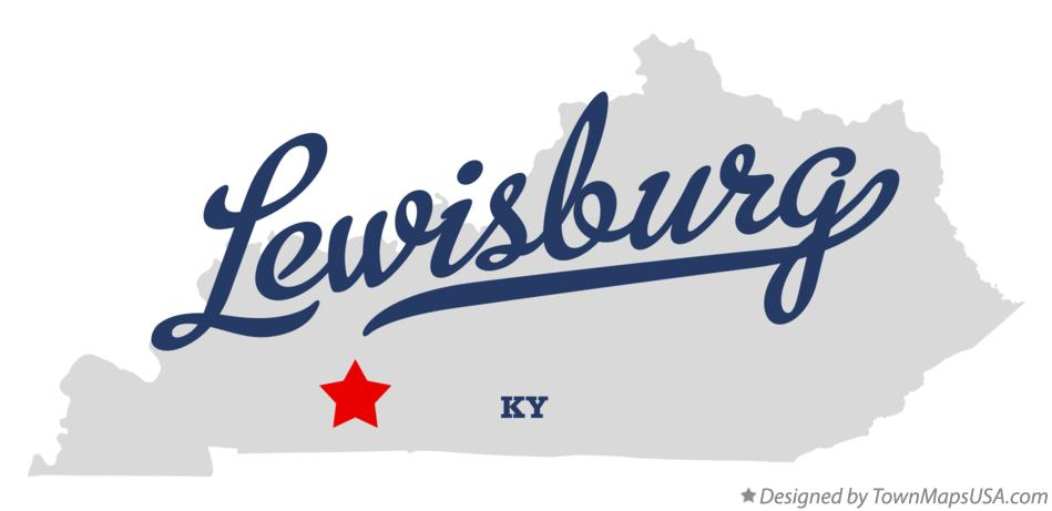 Map of Lewisburg Kentucky KY