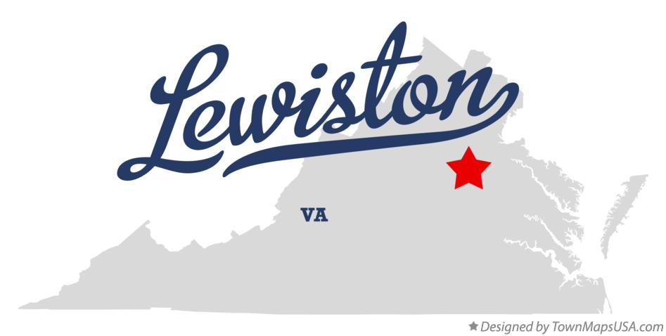 Map of Lewiston Virginia VA