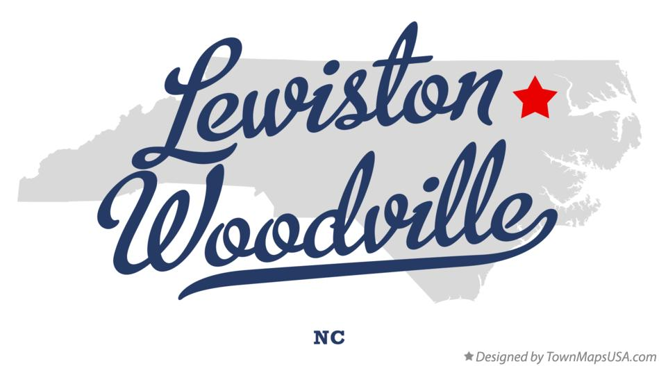 Map of Lewiston Woodville North Carolina NC