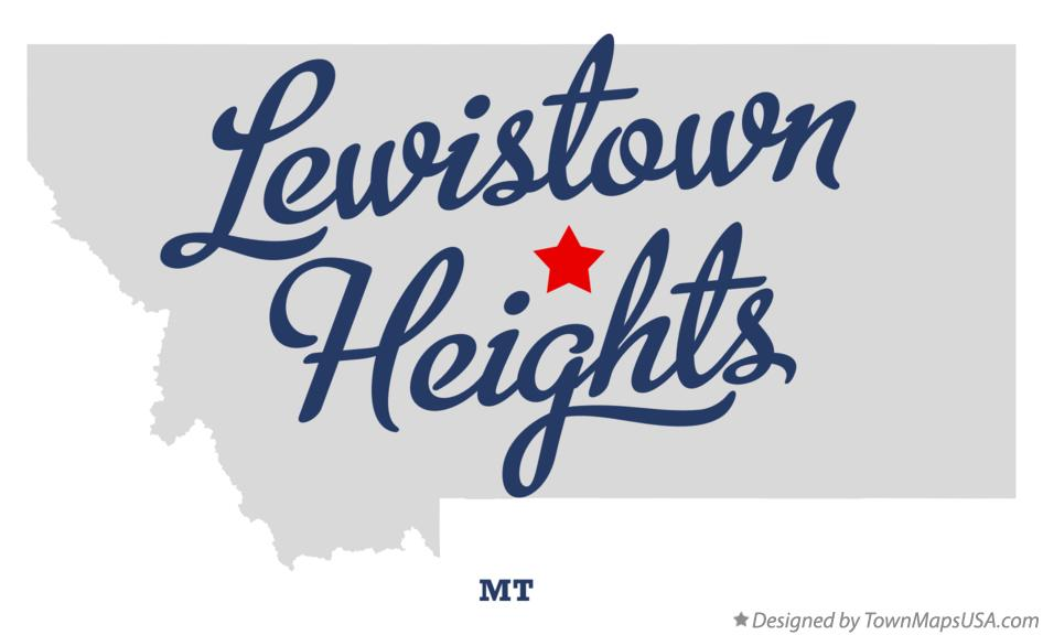 Map of Lewistown Heights Montana MT