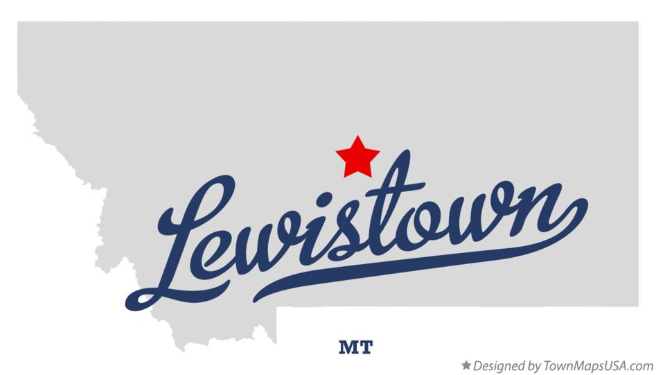 Lewiston Montana Map.Map Of Lewistown Mt Montana