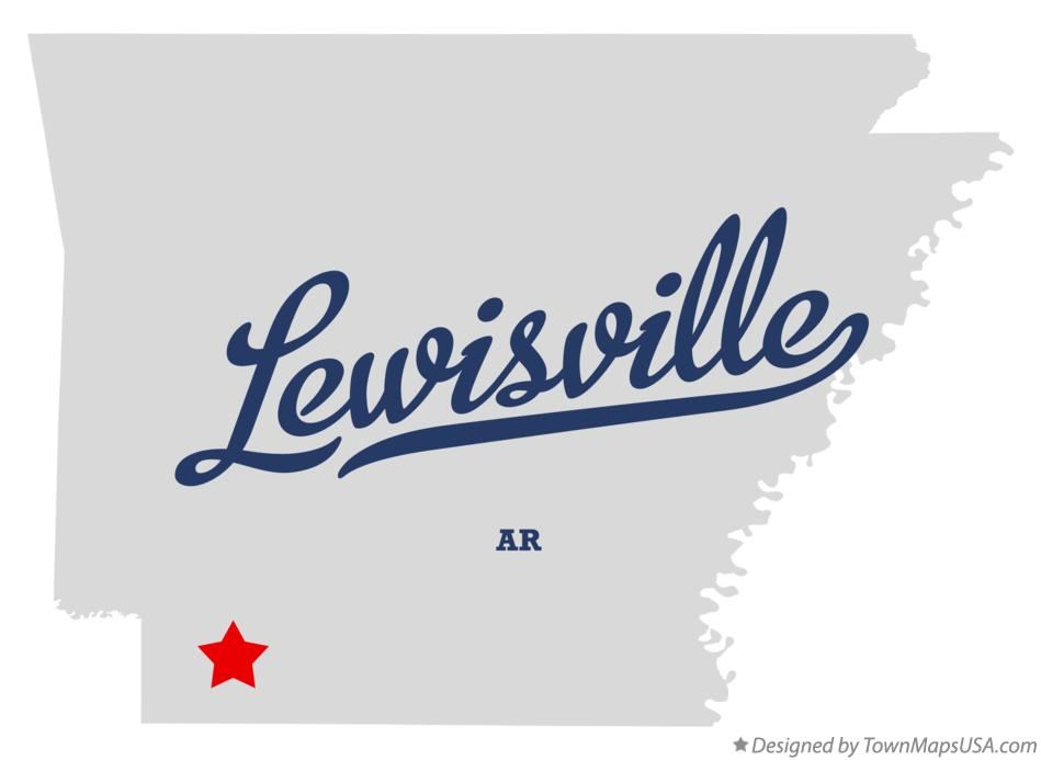 Map of Lewisville Arkansas AR