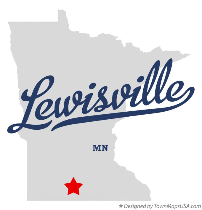 Map of Lewisville Minnesota MN
