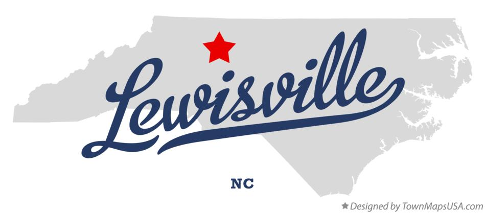 Map of Lewisville North Carolina NC