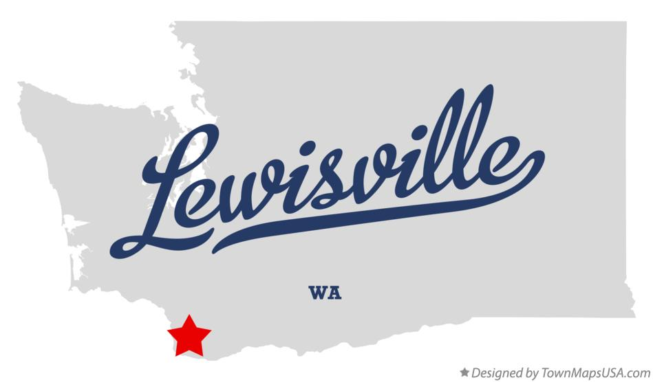 Map of Lewisville Washington WA