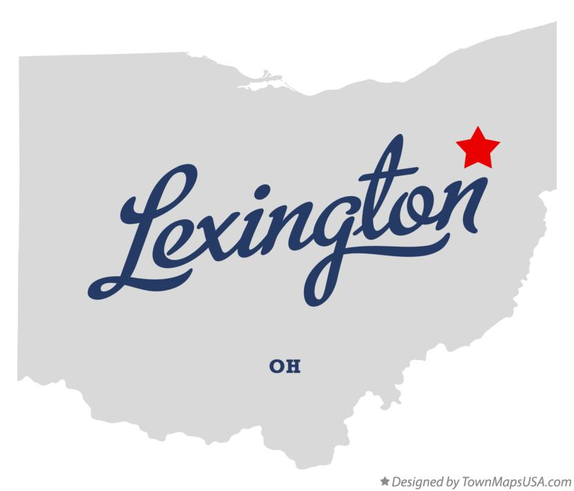 Map of Lexington Ohio OH