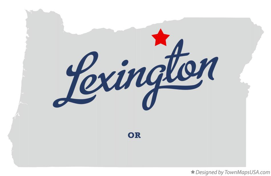 Map of Lexington Oregon OR