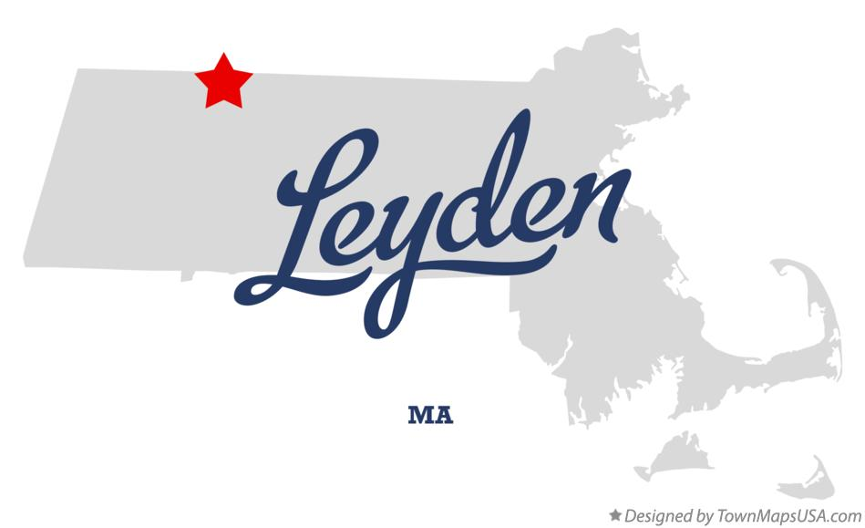 Map of Leyden Massachusetts MA