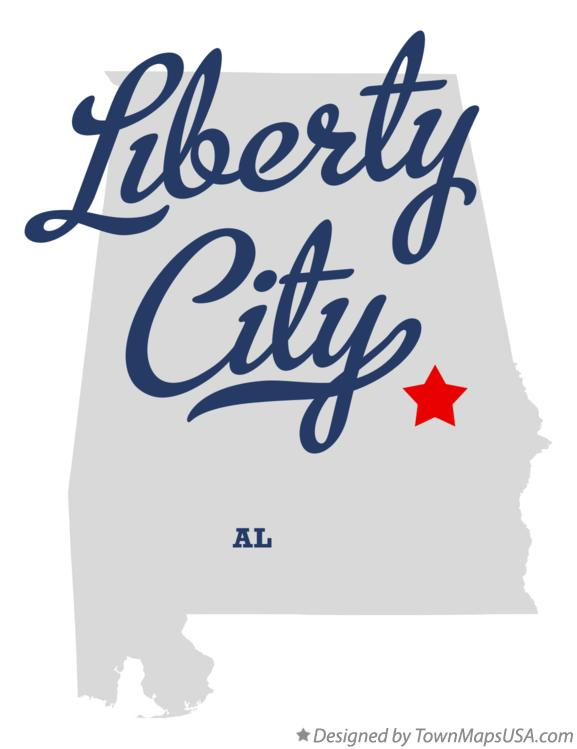 Map of Liberty City Alabama AL