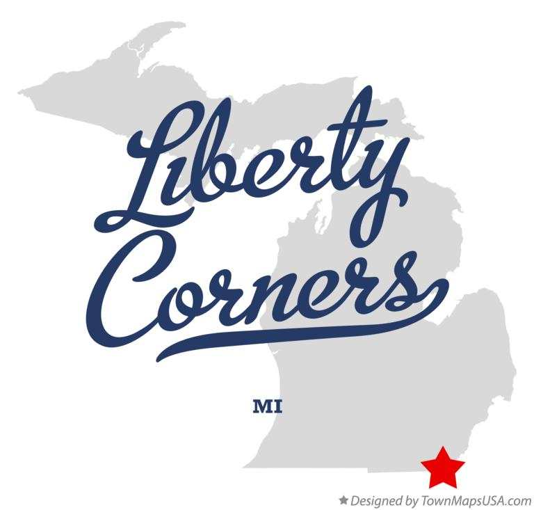 Map of Liberty Corners Michigan MI