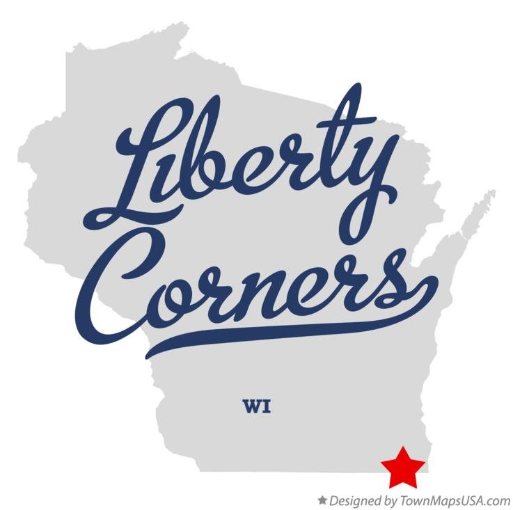 Map of Liberty Corners Wisconsin WI