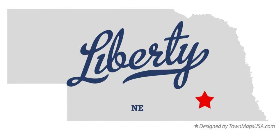 Map of Liberty Nebraska NE