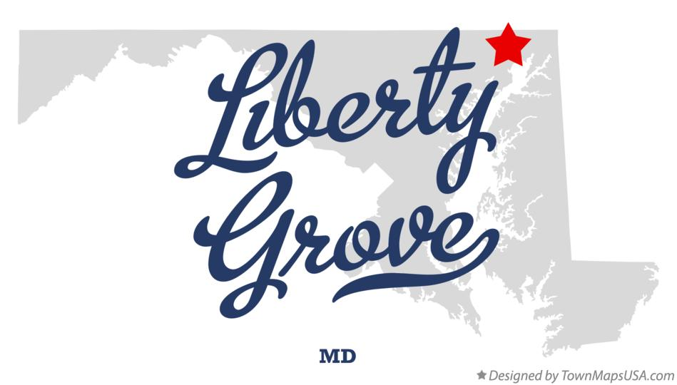 Map of Liberty Grove Maryland MD