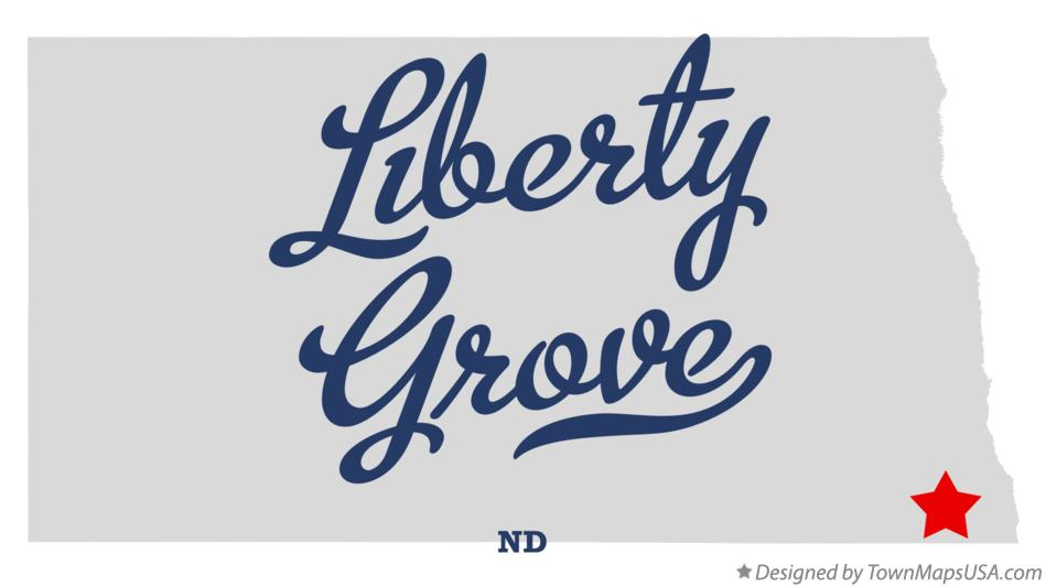 Map of Liberty Grove North Dakota ND