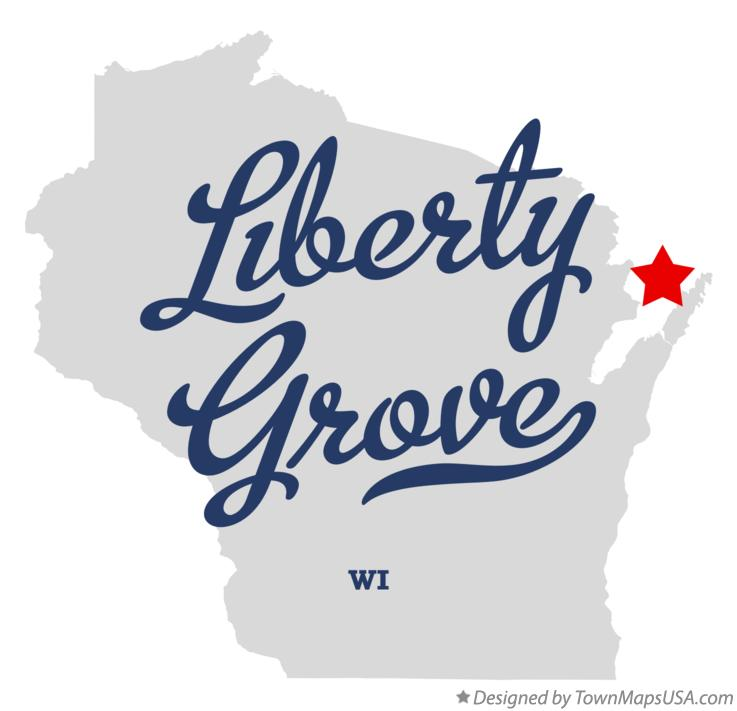 Map of Liberty Grove Wisconsin WI