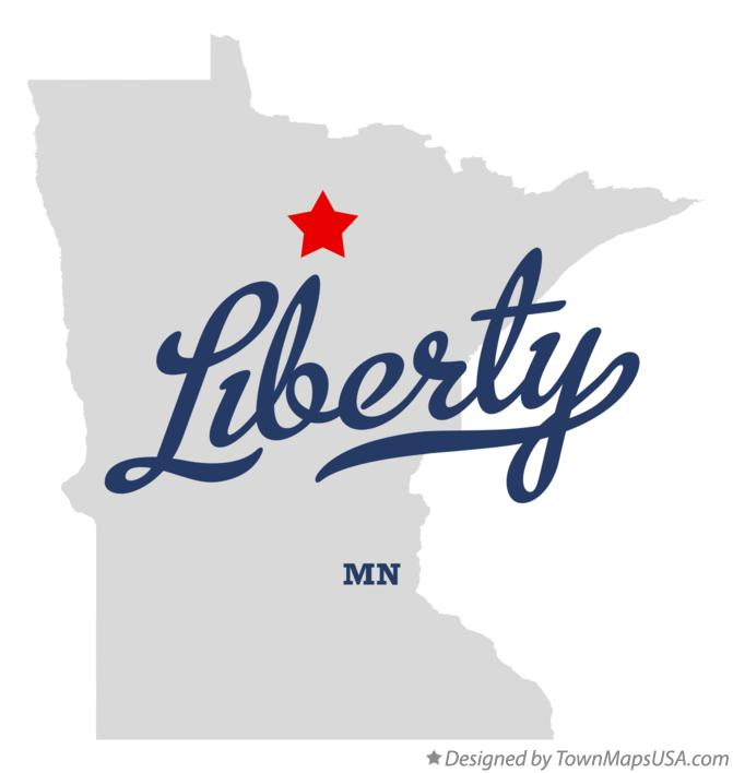 Map of Liberty Minnesota MN