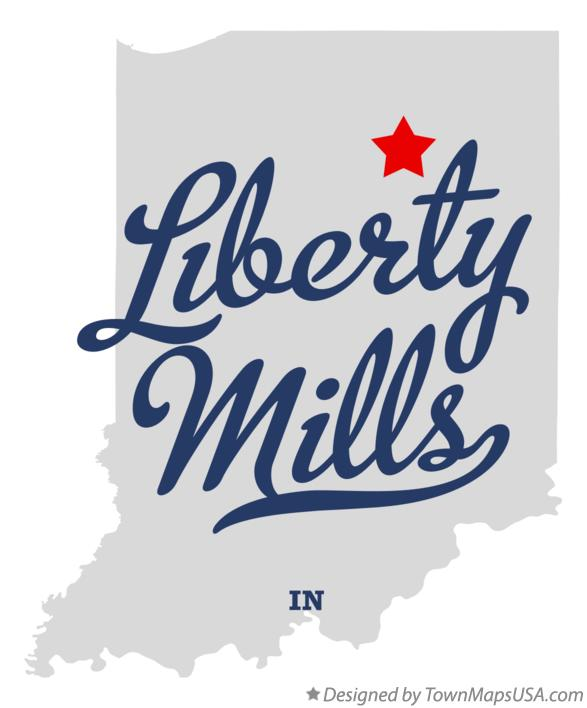 Map of Liberty Mills Indiana IN