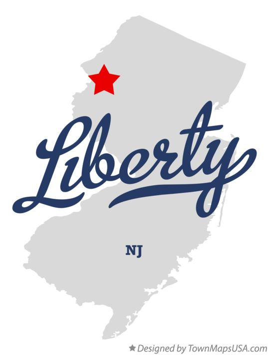 Map of Liberty New Jersey NJ