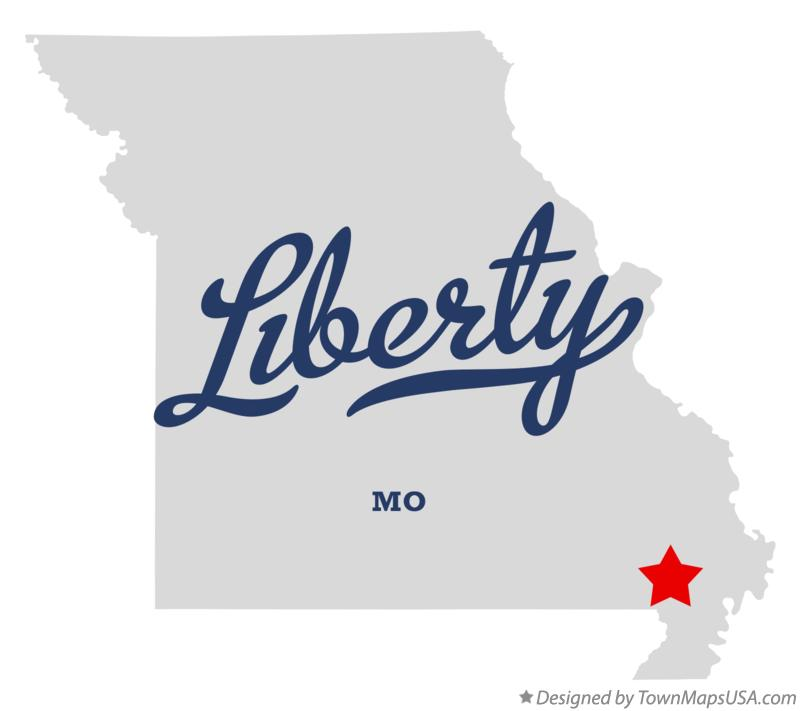Map of Liberty Missouri MO